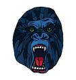 Growling gorilla tattoo vector image