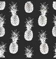 hand drawn fruits seamless pattern pineapples on vector image vector image