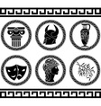 hellenic buttons stencil fifth variant vector image vector image