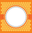 Honeycomb frame vector image vector image