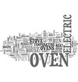 it s only an oven text background word cloud vector image vector image