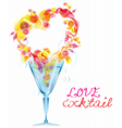love cocktail vector image vector image