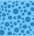 many blue snowflakes on light blue background for vector image