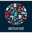 Medicine symbols background with icons