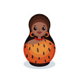 nesting doll painted as prehistoric women wooden vector image vector image