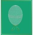 Openwork Easter egg vector image vector image