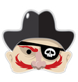 pirates mask vector image vector image