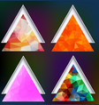 polygonal geometric shapes set of triangles on vector image vector image