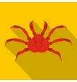 Red king crab icon flat style vector image vector image