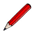 red pencil hand drawn sketch vector image vector image