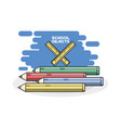 school supplies colored pencils vector image