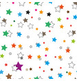 seamless pattern colorful stars background vector image