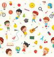seamless pattern of kids vector image