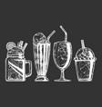 set different milkshake vector image vector image