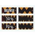 Set of Halloween Gift Tags vector image vector image