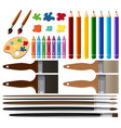 set of painting tools vector image
