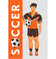 soccer player poster vector image vector image
