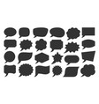 speech bubble black silhouette social talk banner vector image vector image