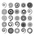 spiral swirls icons vector image