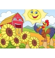 Summer morning on the farm vector image