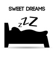 Sweet dreams design vector image