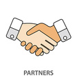 Two business partners agreed a deal and doing vector image vector image