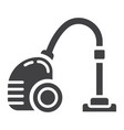vacuum cleaner solid icon electric and appliance vector image