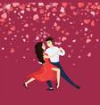 valentine romantic dance of man and woman vector image