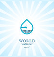 water drop and water tap icon logo design vector image vector image