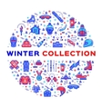 Winter collection of sportswear fashion clothing vector image