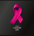 world cancer day abstract isolated awareness vector image vector image