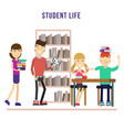 library in university vector image