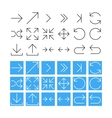 Thin Arrow Icon Set vector image