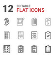 12 questionnaire icons vector image vector image
