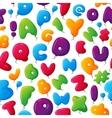 Alphabet seamless pattern vector image vector image