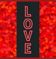banner with neon light love vector image vector image