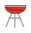 bbq grill sausages vector image vector image
