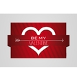 Be My Valentine Heart Symbol Card vector image vector image