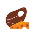 beef steak and cheese icon vector image