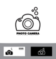 Black and white photography photo camera vector image vector image