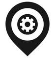 black map pin vector image vector image