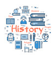 blue round history subject concept vector image vector image