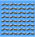 boat wallpaper on white background vector image vector image