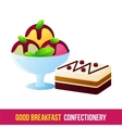 Breakfast icon gradient vector image vector image