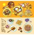 breakfast top wiew vector image