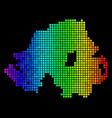 bright pixel northern ireland map vector image vector image