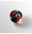 broken glass sphere vector image vector image