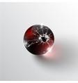 broken glass sphere vector image