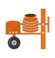 cement mixing machine wheel vector image vector image