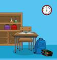 classroom interior cartoon vector image vector image